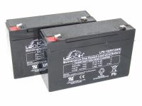 2 x Leoch LP6-12 -  Microcat Bait Boat Batteries